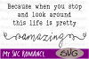 When You Stop & Look Around - Life Is Pretty Amazing - SVG example image 1
