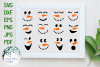 Winter Snowman Faces SVG Cut File and Clipart Bundle example image 1