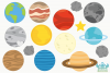 Solar System Planets 2 Clipart, Instant Download Vector Art example image 2