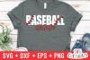 Baseball Mom   SVG Cut File example image 1