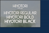 Hiyotori  3 Style Font example image 3