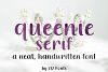 Queenie Serif Handwritten Sans Serif Font example image 1