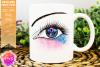 Pink & Blue Awareness Ribbon Eye - Printable Design example image 1