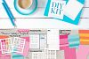 Templates Bundle Vol. 1 - Planner Stickers Digital DIY Kit example image 3