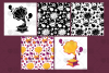 Retro Gramophone Clipart And Seamless Patterns example image 4