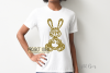 Rabbit paper cut design. SVG / DXF / EPS / PNG files example image 6