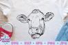 Cow Face SVG, Heifer SVG, Farm SVG example image 1