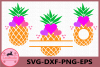 Pineapple with Heart Svg, Pineapples SVG, Heart, Monogram example image 1