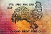 Easter SVG, Rooster SVG, Zentangle SVG, Mandala svg, Cricut example image 1