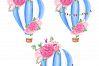 Watercolor Hot-Air Balloons Patterns example image 7