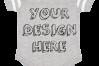 Infant Football Bodysuit Mockups - 12 |PNG|Front/Back - V1 example image 10