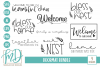 Welcome - Home - Family - Bless - Doormat Bundle SVG example image 1