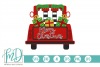 Elf - Merry Christmas - Christmas Vintage Truck Back SVG example image 2