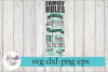 Family Rules Wood Sign Making SVG Cutting File example image 1