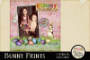 Easter Clipart - Bunny Prints Word Art Spring Clipart example image 2