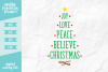 Christmas Tree Word Art SVG DXF EPS PNG example image 1
