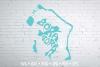 Bora Bora Word Art, Svg Dxf Eps Png Jpg, map shape example image 1
