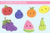 Cute Fruit Illustration Set example image 2