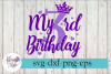 My 3rd Birthday Party Diva SVG Cutting Files example image 1