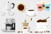 Coffee house emblem and items illustration. example image 4