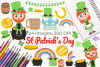 St Patrick's Day Clipart, Instant Download Vector Art example image 1