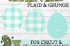 Plaid & Grunge Spring Easter Egg SVG Cut File example image 4