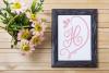Heart Monogram - A Hand-Written Monogram Font example image 3