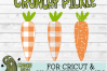 Plaid & Grunge Carrot Easter / Spring SVG Cut File example image 4