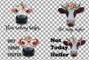 Cows with floral crown clip art. Not today heifer graphic example image 2