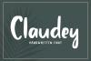 Claudey - Handwritten Font example image 1