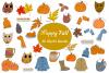 Fall ClipArt Bundle Sublimation Owls Leaves Pumpkins Pie Mug example image 1