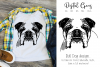 English Bull Dog SVG / EPS / DXF / PNG Files example image 1