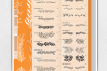 PROCREATE Dividers Stamp Brushes | 40 botanical dividers example image 2