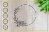 Monogram svg, circle with floral, instant download, cut file example image 1
