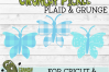 Plaid & Grunge Butterfly 1 SVG Cut File example image 4