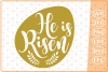 He Is Risen SVG, Easter Cutting Files, Easter SVG example image 1