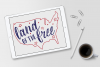Land of the Free - Forth of July - Patriotic SVG Cut File example image 3