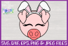 Easter   Pig Face SVG Cut File example image 3