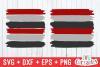 Brush Stroke Frames | SVG Cut File example image 1