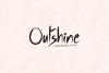 Outshine - Luxury / Handwritten Font example image 1