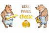 Bear makes cheese - watercolor character example image 1