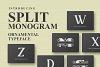 Split Monogram example image 1