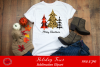 Buffalo Plaid Leopard Print Christmas Trees Sublimation example image 1