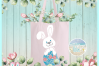 Easter Bunny Monogram Bundle Svg Dxf Eps Png Pdf Files example image 2