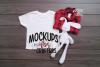 MOCK-UP Gildan White Children's Tshirt example image 1