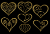 Glittery Gold Hearts example image 3