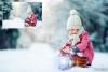 30 Christmas Photo overlays, photoshop overlays, Lamp light example image 3