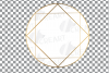Elegant wedding geometric golden frames, lineal frames svg example image 16