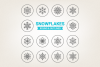 Circle Snowflakes Icons example image 1