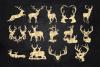 Deer Clipart, Antler Clip Art, Gold Glitter Digital Deers example image 3